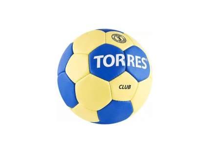 Мяч гандбольный Torres Club, 3, Р30013 желтый/синий