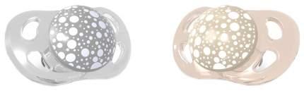 Пустышка Twistshake Pearl, цвет: шампань и серый, 2 штуки (large)