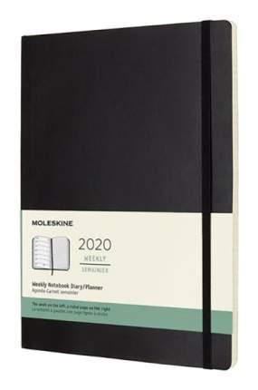"""Еженедельник датированный на 2020 год """"Classic Soft"""" WKNT XL, 144 страницы, черный"""