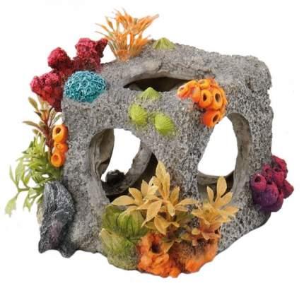 Декорация для аквариума Europet Bernina Обитаемый куб с кораллами SM, пластик 12х11,5х11см