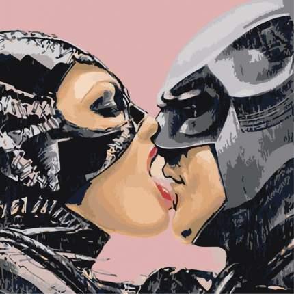 """Картина по номерам Живопись по Номерам """"Женщина-кошка и Бэтмен"""", 40x40"""