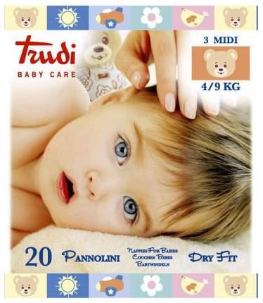 Подгузники детские для новорожденных Trudi Midi