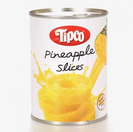Ананасы колечками Tipco в ананасовом соке 580 г