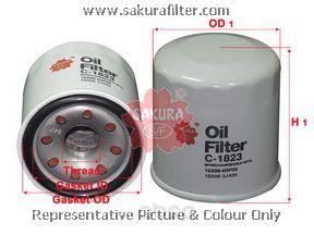 Фильтр масляный двигателя SAKURA C1823