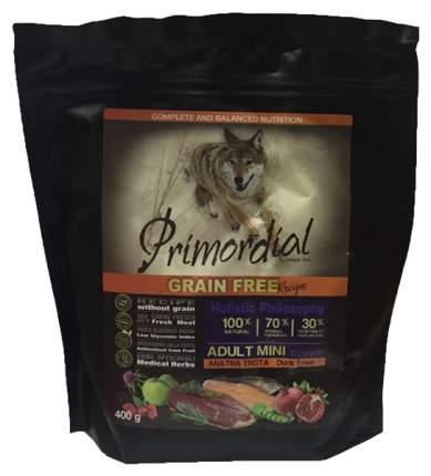 Сухой корм для собак Primordial Grain Free Adult Mini, форель, утка, 0.4кг