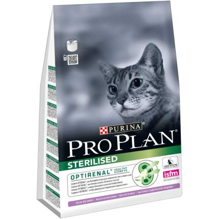 Сухой корм для кошек PRO PLAN Sterilised, для стерилизованных, индейка, 3кг
