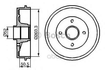 Барабан тормозной Bosch 0986477120