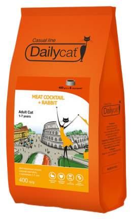 Сухой корм для кошек Dailycat Casual Line, мясной коктейль с кроликом, 0,4кг
