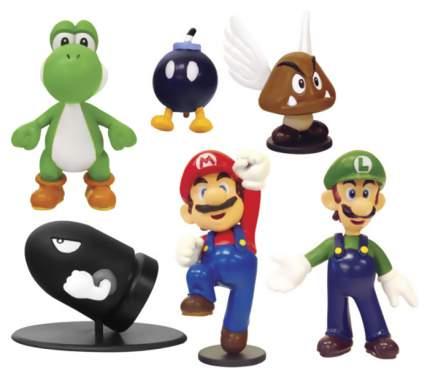 Фигурка Goldie Набор фигурок Super Mario 6 см, 6 шт, серия 1