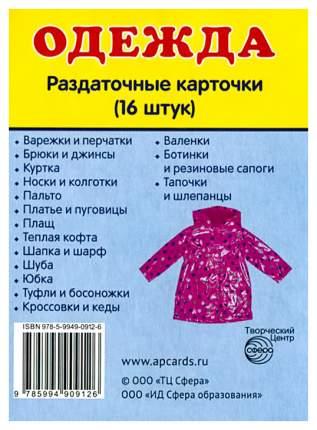 Демонстрационные картинки Сфера тц Одежда 16 Раздаточных карточек С текстом