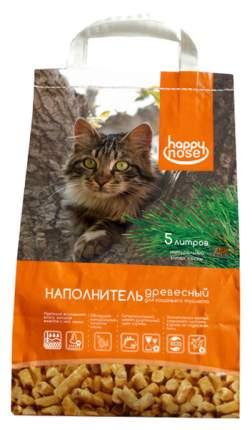 Древесный наполнитель туалета для животных Happy Nose 5 л