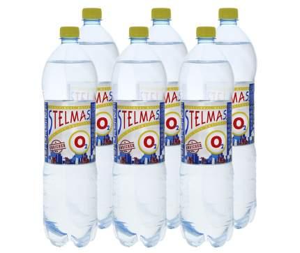 Вода Stelmas o2 минеральная негазированная 1.5 л 6 штук в упаковке