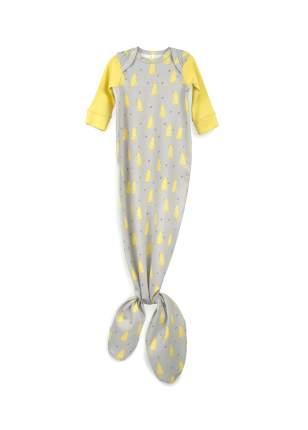 Боди-пеленка Happy Baby с длинным рукавом Grey/Yellow