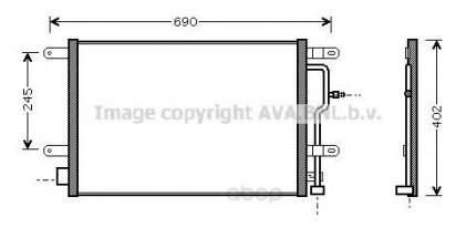 Радиатор охлаждения двигателя Ava AI5194