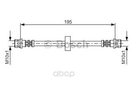 Шланг тормозной системы Bosch 1987476884 задний