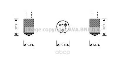 Осушитель кондиционера Ava для Daewoo Matiz 2000-2004 DWD042