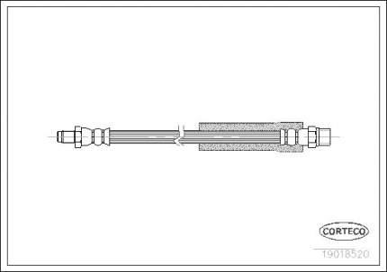 Шланг тормозной CORTECO 19018520