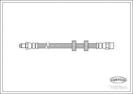 Шланг тормозной CORTECO 19025850