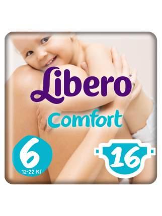Подгузники Libero Comfort Size 6 (12-22кг), 16 шт.