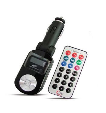 FM трансмиттер с дисплеем и пультом AVS F-525 (черный) / 43041