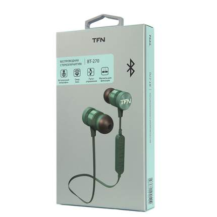 Наушники беспроводные TFN TFN-HS-BT270GRN