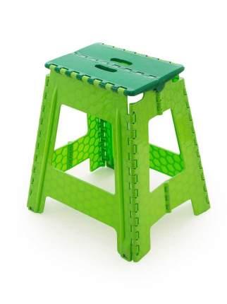 Табурет Трикап складной пластиковый большой, зеленый/салатовый