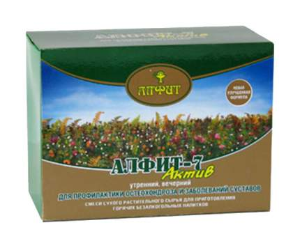 Чайный напиток Алфит-7 для профилактики остеохондроза и суставов 60 брикетов х 2 г