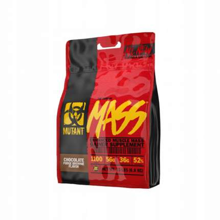 Гейнер Mutant Mass, 6800 г, chocolate fudge brownie