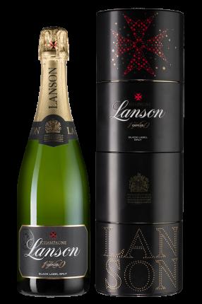 Шампанское  Champagne Lanson Black Label Brut in gift box Twist Pack