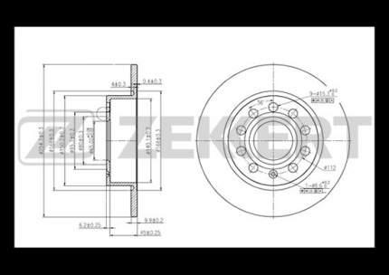 Тормозной диск ZEKKERT BS-5044