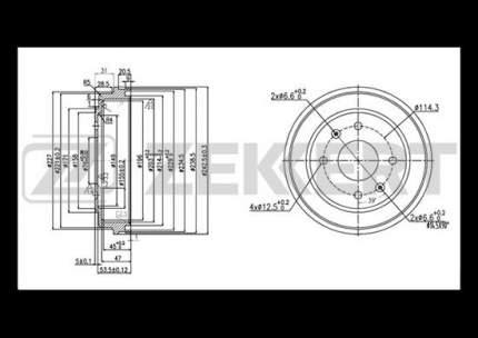 Тормозной барабан ZEKKERT BS-5523