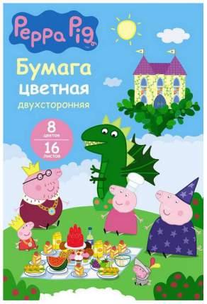 Набор цветной бумаги Росмэн Свинка Пеппа 34055