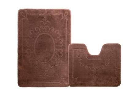 Набор ковриков для ванной ЭКО шоколадный, SHAHINTEX 5622-2