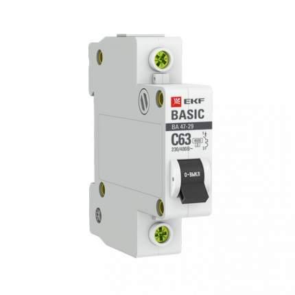 Автоматический выключатель EKF 1P 16А (C) 4,5кА ВА 47-29 Basic