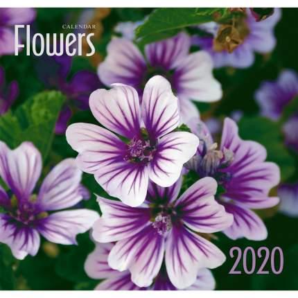 Календарь 2020 Фиолетовые цветы (скрепка), КС62013