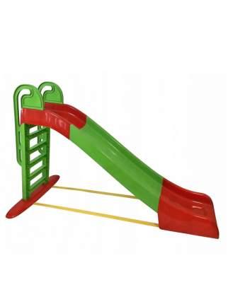 Горка для катания детей Doloni зелено-красная, 240х114 см