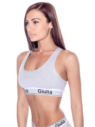 Топ женский Giulia COTTON BRA серый M