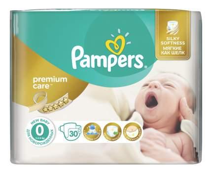 Подгузники для новорожденных Pampers Premium Care 0 (0-2,5 кг), 30 шт.