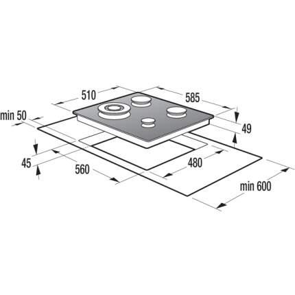 Встраиваемая варочная панель газовая Gorenje GTW6INB Black