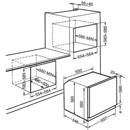 Встраиваемый электрический духовой шкаф Smeg SF855X Silver