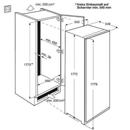 Встраиваемый холодильник Electrolux ERN93213AW White