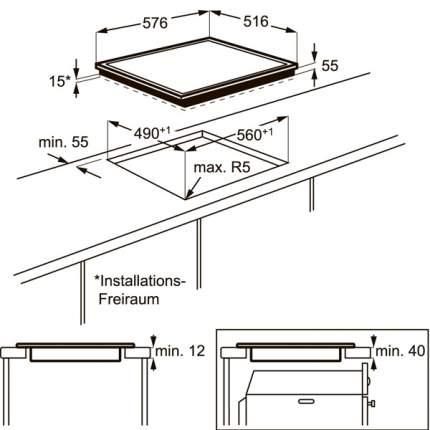 Встраиваемая варочная панель индукционная Electrolux EHH96340XK Black