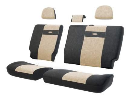 Комплект чехлов на сиденья Autoprofi TRS-002 BK/L.BE