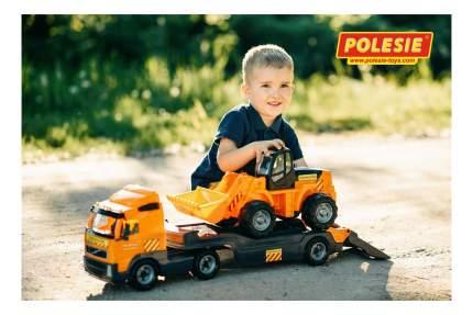Машинка Полесье Volvo автомобиль-трейлер + трактор-погрузчик