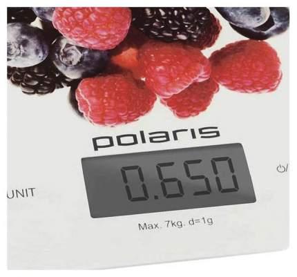 Весы кухонные Polaris PKS 0740DG Berries белый/рисунок
