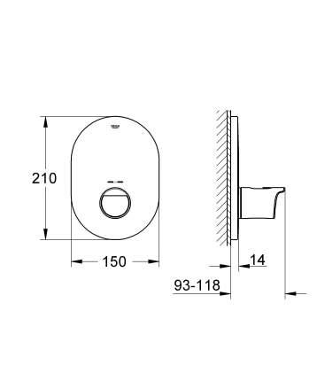 Смеситель для встраиваемой системы Grohe Grohtherm 2000 19352001 хром