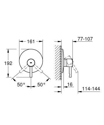 Смеситель для встраиваемой системы Grohe Essence 19286000 серебристый