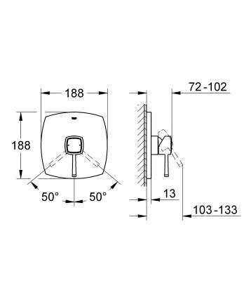 Смеситель для встраиваемой системы Grohe Grandera 19932000 серебристый