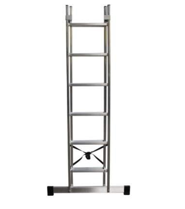 Лестница секционная Dogrular Ufuk 2 секции 6 ступеней алюминий (411206)