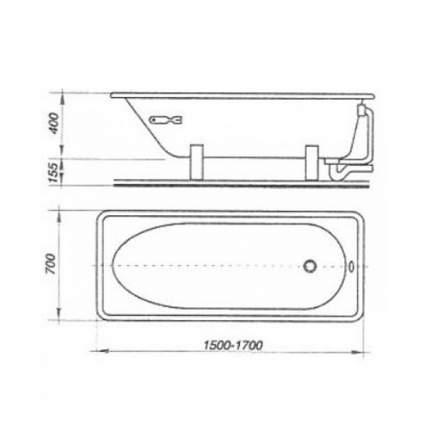 Стальная ванна ВИЗ Donna Vanna 170х70 без гидромассажа